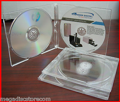5.2mm Double CD Slim Jewel Case Crystel Clear Hold 2 Discs 50 Pk Case