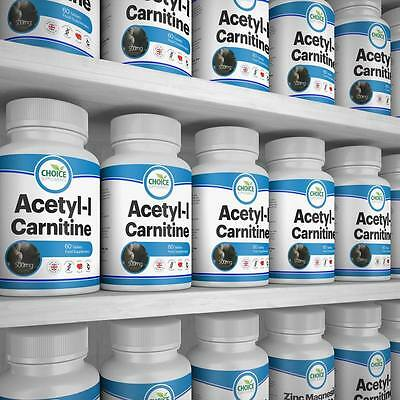 Acetyl L-Carnitine Tablets -1500mg Serving Strength - Diet Pill - Muscle Gain