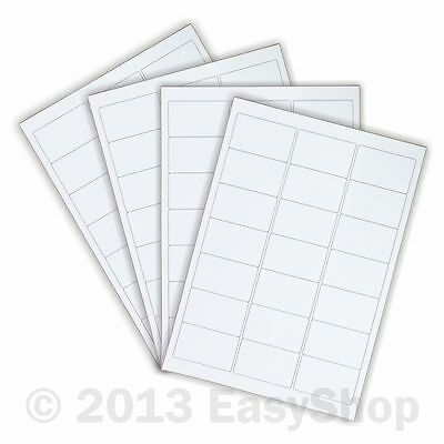 White A4 Inkjet Laser Sheets Self Adhesive Sticky Address Labels 65 x 38mm 21 up