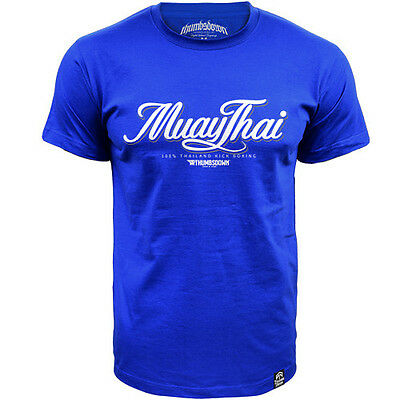 T-Shirt Thumbsdown Muay Thai ! Ideal For Mma, Training, Casual Wears! Ts323 Rbl