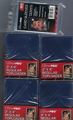 100 Ultra Pro 3x4 Sports Card Toploaders And 100 Ultra Pro Sleeves