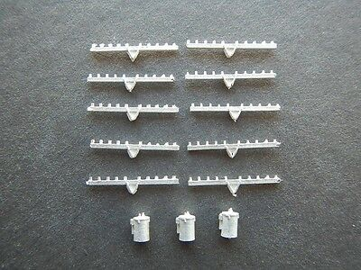 N Scale Power Pole Accessory Pack for Railroad Hobby by Century Foundry (521)