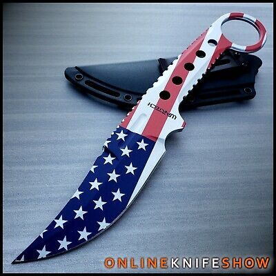 """7"""" TACTICAL COMBAT SURVIVAL Boot Tanto HUNTING KNIFE Bowie Military Fixed Blade"""