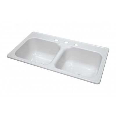 """Lyons Deluxe DKS01J-3.5 White 33""""X19"""" Manufactured/Mobile Home Acrylic 9"""" Deep K"""