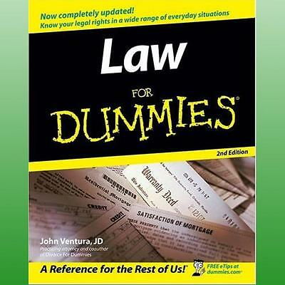 Law For Dummies by Ventura John