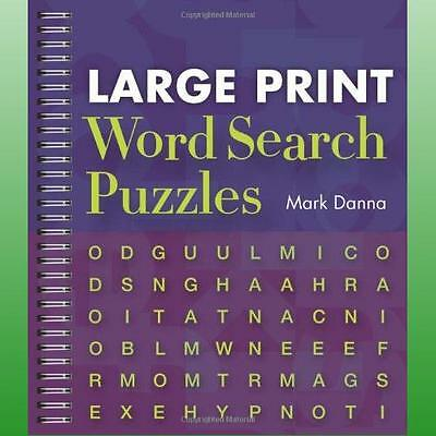 Large Print Word Search Puzzles by Danna Mark