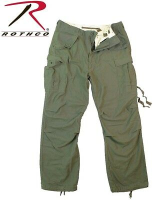 OD Green Field Pants Vintage M-65 Tactical Military Field Fatigue Pants 2601 #1