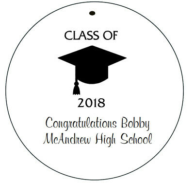 CLASS OF 2019 GRADUATION* 24 Personalized Hanging Favor Round Gift Tags
