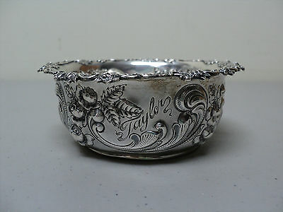 GORGEOUS 19th C. GEORGE C. SHREVE & Co. STERLING SILVER DISH, CHASED DESIGN