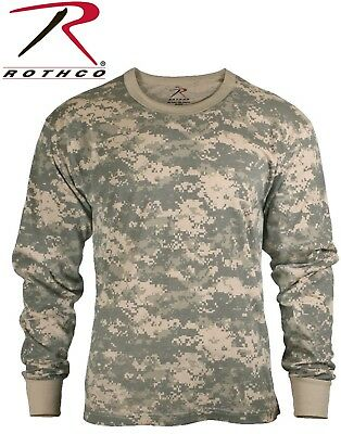 Acu Digital Camouflage Army Long Sleeve T-Shirt Military Shirt Rothco 6385