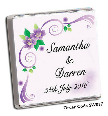 50 Personalised Chocolate Wedding Favours, & Free Choc, Add Your Photo For Free!