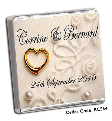 50 Personalised Chocolate Wedding Favours,quality Free P+P Top Designs For 2018!