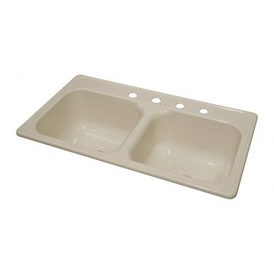"""Lyons Deluxe DKS02J4-3.5 Almond 33""""X19"""" Manufactured/Mobile Home Acrylic 9"""" Deep"""