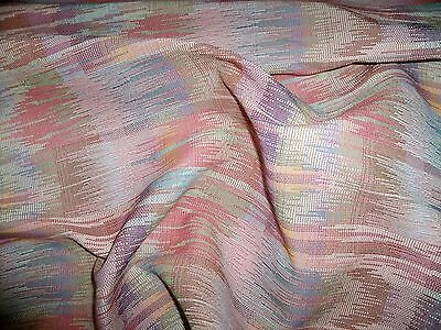 Scalamandre Ikat Kilim Love-in-a-Mist Textured Uphlostery Fabric 10 yards Rose