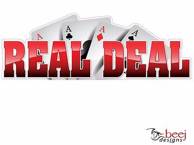 Reel Deal sticker 500x175mm - Fishing Boat tackle decal