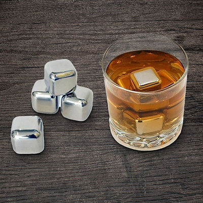 Stainless Steel Whiskey Rocks - Set of 8 | ice stones whisky cooler cubes