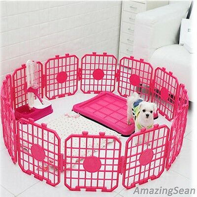 Pet Playpen 8,12,24 Panel Pet Fence, Dog Exercise Pens, Kennel, Cat Fence Panel