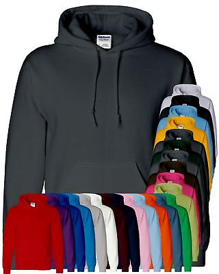 New Gildan Heavy Blend Plain Hooded SweatShirt Hoodie Sweat Hoody Jumper
