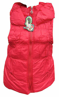 Girls Red Gilet/Bodywarmer Fleece Lined Padded & Warm Sizes L,XL,XXL 6Y-11Y