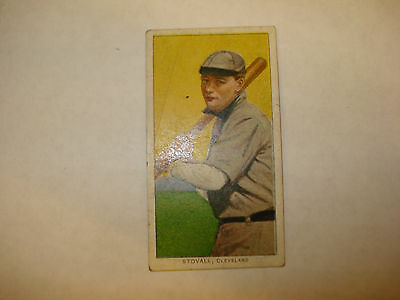 1909-1911 T206 George Stovall Polar Bear Back Cleveland RARE Vintage Tobacco