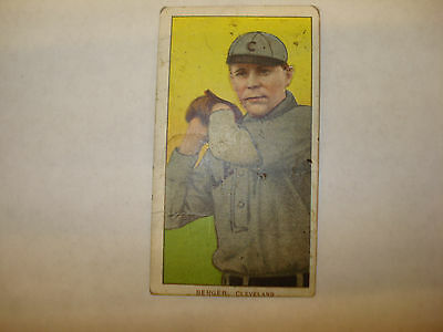 1909-1911 T206 Heinie Berger Polar Bear Back Cleveland RARE Vintage Tobacco