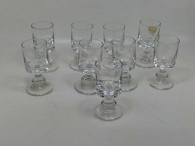 lot de 9 verre a digestif/vintage french bistrot glasses