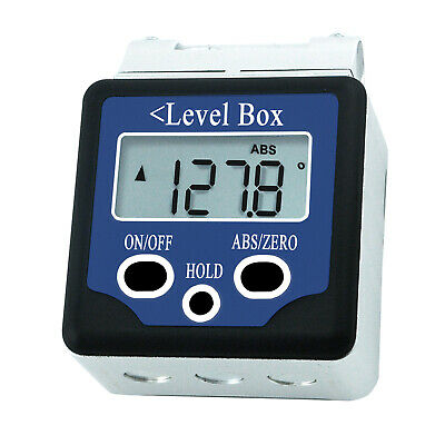 Digital Bevel Box Level Angle Gauge Meter Inclinometer Protractor Magnetic Base