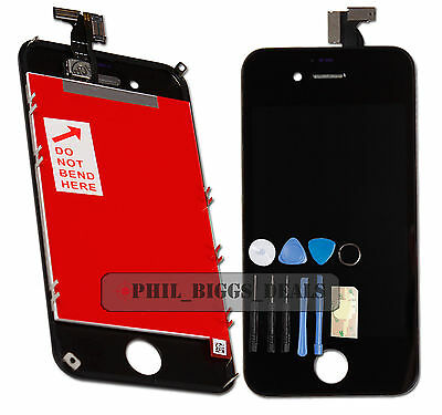 New Black iPhone 4S LCD Display Digitizer Touch Screen Replacement Assembly UK