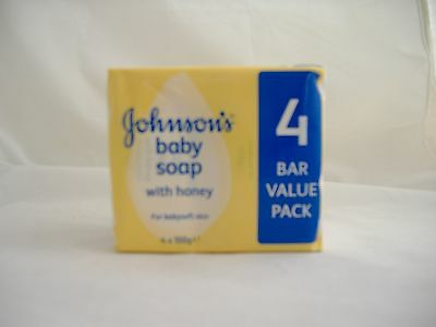Johnsons Baby Soap with Honey Pack of 4 Qty x 1+ Free Postage