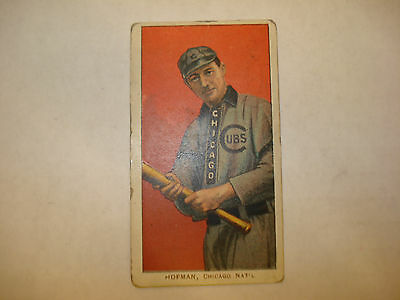 1909 -1911 T206 Solly Hofman Old Mill Back Chicago Cubs RARE Vintage Tobacco