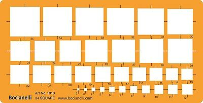 Metric Square Squares Symbols Shape Technical Drawing Drafting Template Stencil