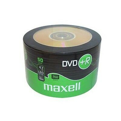 50 DVD +R MAXELL 275736 Vergini Vuoti Originali 16X 120 Minuti 4.7GB Cakebox