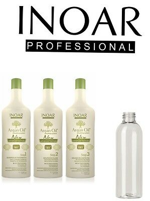 Inoar Argan Brazilian Keratin Treatment Blow Dry Hair Straightening  300Ml Set
