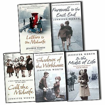 Jennifer Worth 5 Books Collection Pack Set Call the Midwife Letters to Modwide