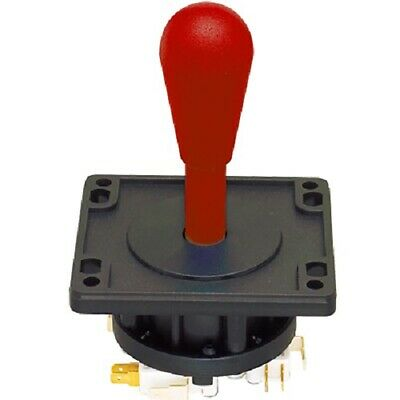 Happ Ultimate 8 Way Joystick with Switches - Red