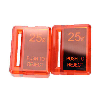 Arcade Game Reject Button - Plastic - Red - Set of 2