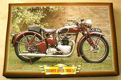 Triumph Speed Twin 5T 500 Vintage Classic  Motorcycle Bike 1930's Picture 1938