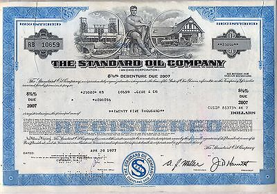 The Standard Oil Company Bond Stock Certificate Gas Refining Sohio Amoco BP