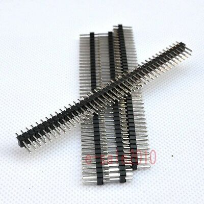 10pcs 2X40 2.54mm Pin Header Double Row Male for DIY DIP PCB Board convert G38