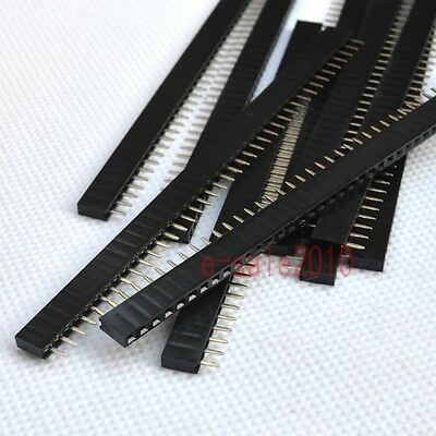 10X RoHS 1X40 2.54mm Pin Header Single Row Female for DIP PCB Board convert G22