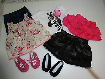 "NEW-Doll Clothes & Shoes-Lot #4 [7 pieces] fit 18"" Dolls such as American Girl"