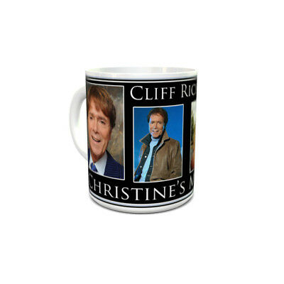 Cliff Richard custom printed mug personalised with your name unique unusual gift