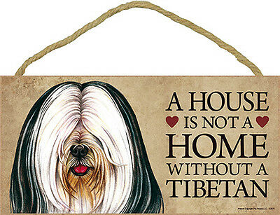 Tibetan Terrier Indoor Dog Breed Sign Plaque – A House Is Not A Home