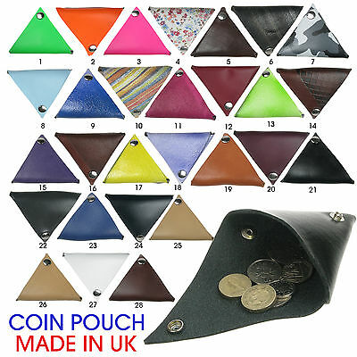 Real Leather Coin Purse Money Holder with Over 20 Colours Made in UK