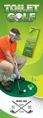 Funny Potty Putter Toilet Time Mini Golf Game Novelty Gag Gift Toy Mat Ships USA