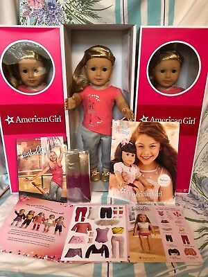 """NEW American Girl ISABELLE 18"""" Doll of Year 2014 Pink Highlights Book +2 Bonuses"""