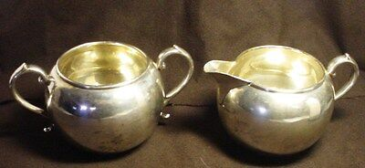 Manchester 897 Sterling Silver Creamer And Sugar Bowl Set 185.2 Grams  #1