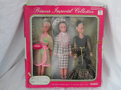 Damaged/Opened Box Princess Imperial Collection 1986 Uneeda Doll Set #1911