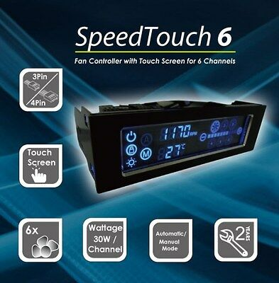 Gelid Solutions Speed Touch 6, LCD Touch Screen, 6 x PC Fan Speed Controller