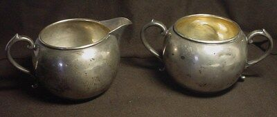 Manchester 897 Sterling Silver Creamer And Sugar Bowl Set 174.7 Grams  #3